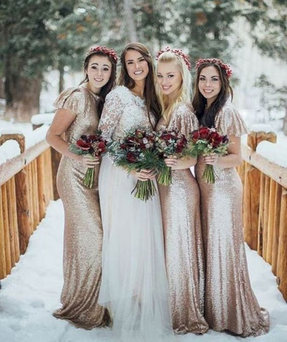 12 Gorgeous winter colors for bridesmaid dresses