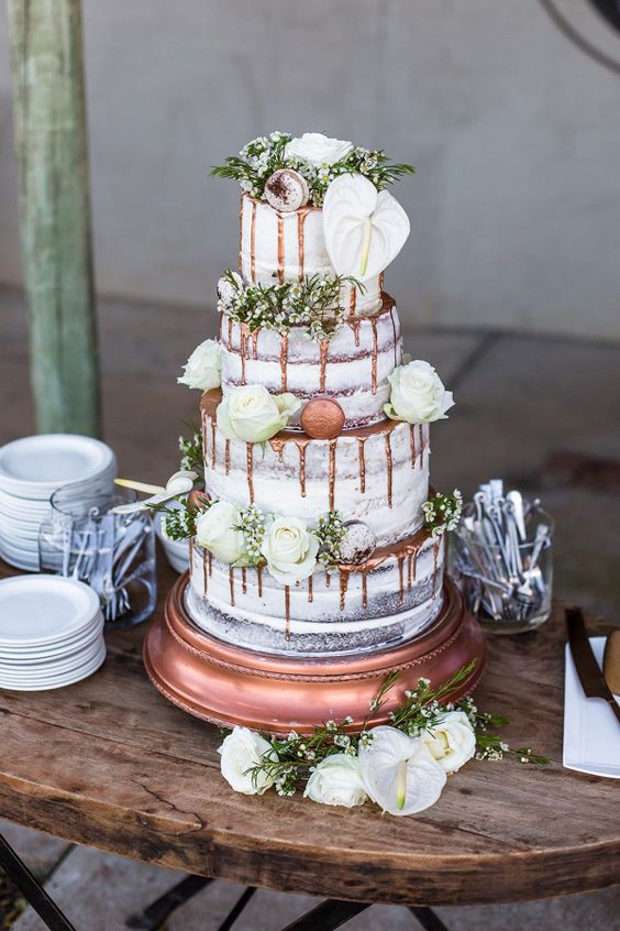Beautiful copper and rose gold wedding color ideas