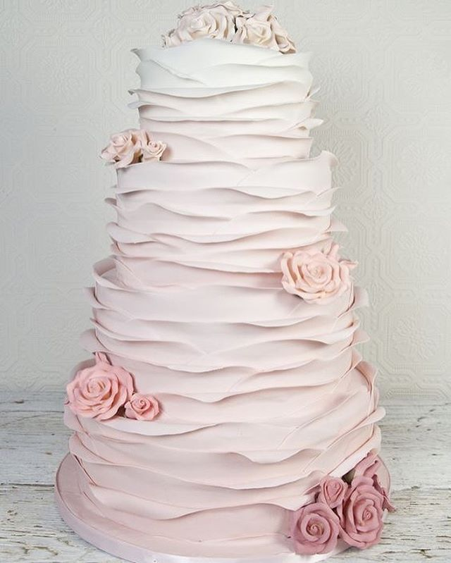 49 Spring 2020 Wedding Ideas – ombre blush pink wedding cake