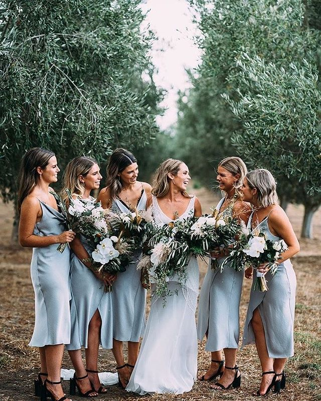 49 Spring 2020 Wedding Ideas – blue bridesmaid dresses