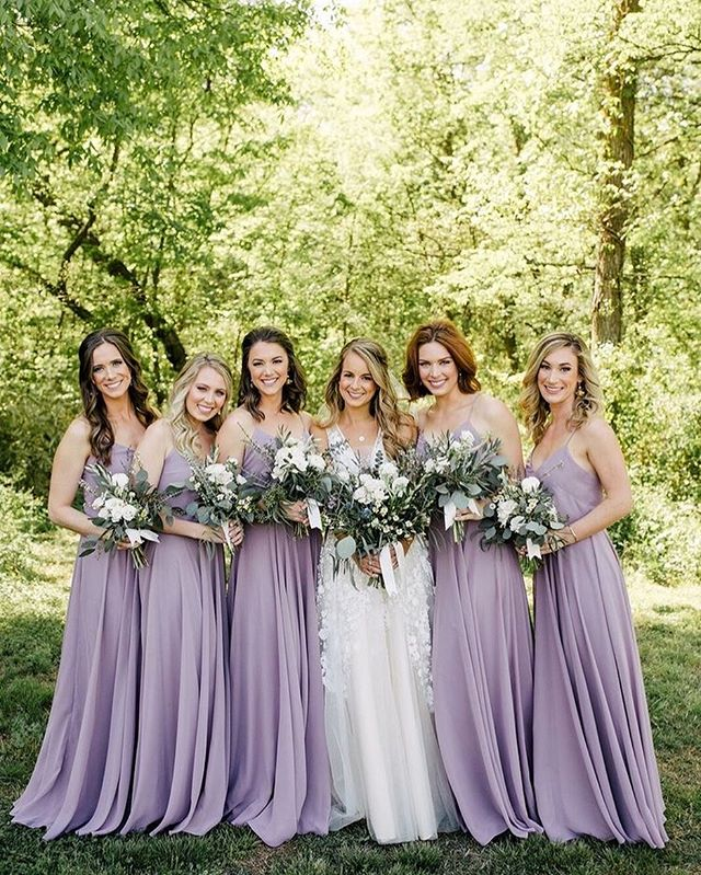 49 Spring 2020 Wedding Ideas – Lavender bridesmaid dresses