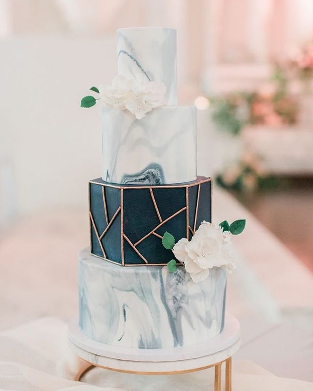 49 Spring 2020 Wedding Ideas – hexagon wedding cake