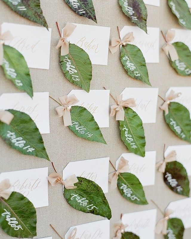 49 Spring 2020 Wedding Ideas – escort cards