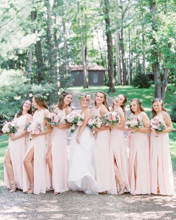 49 Spring 2020 Wedding Ideas – blush pink bridesmaid dresses