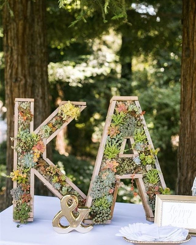 49 Spring 2020 Wedding Ideas – monogram wedding