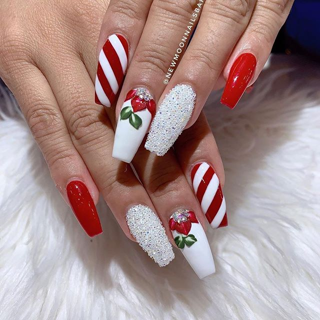 70 Pretty Festive and Winter Nail Art Designs – Page 51