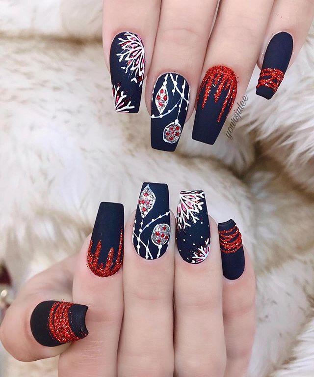 70 Pretty Festive and Winter Nail Art Designs – Page 54