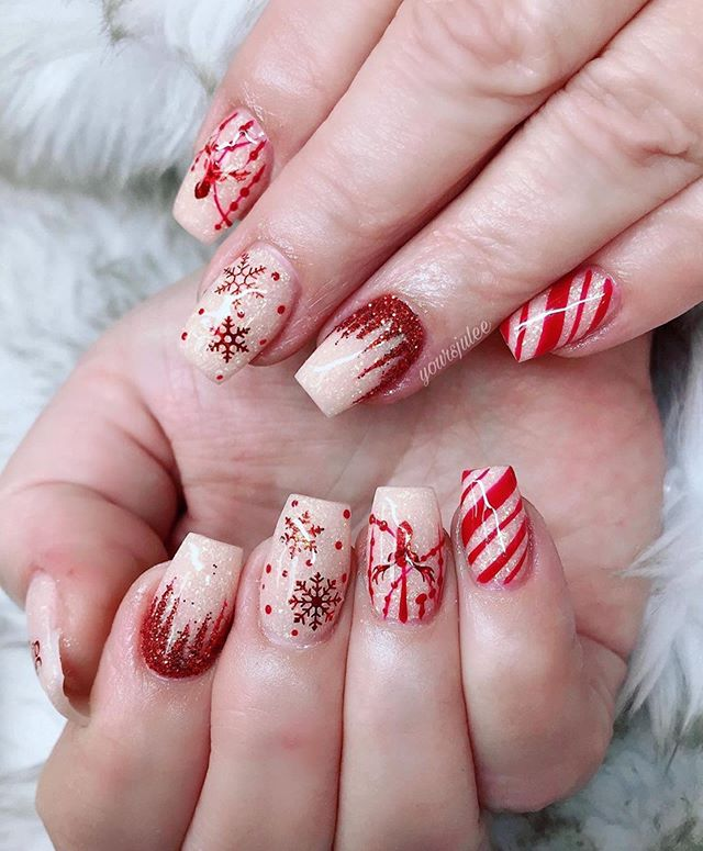 70 Pretty Festive and Winter Nail Art Designs – Page 57
