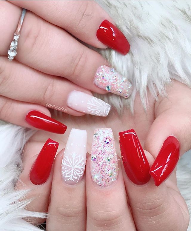 70 Pretty Festive and Winter Nail Art Designs – Page 59