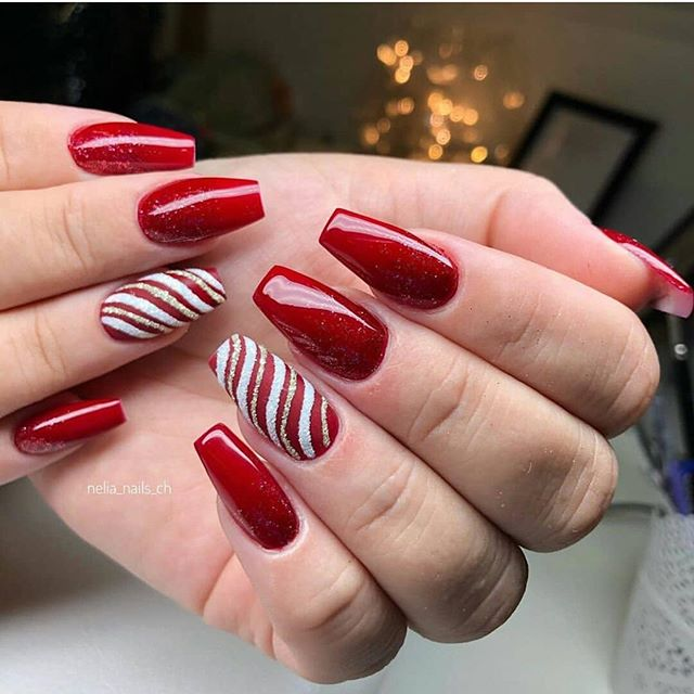 70 Pretty Festive and Winter Nail Art Designs – Page 69
