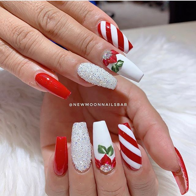 70 Pretty Festive and Winter Nail Art Designs – Page 46