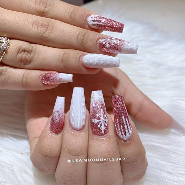 70 Pretty Festive and Winter Nail Art Designs – Page 50