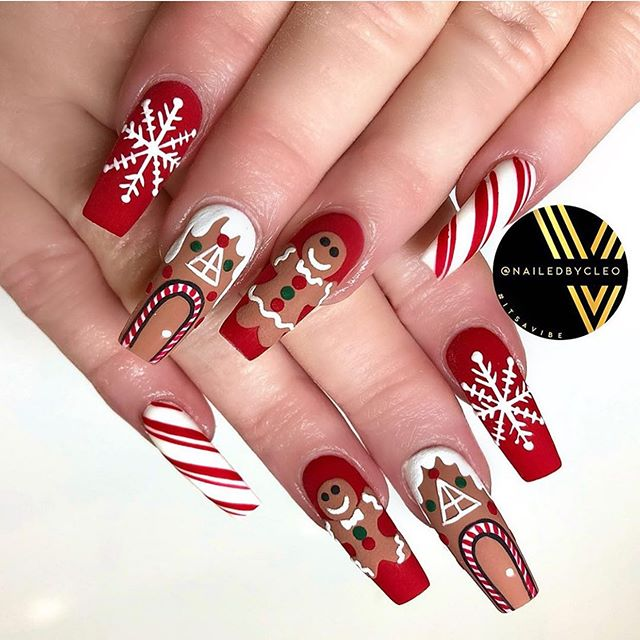 70 Pretty Festive and Winter Nail Art Designs – Page 41