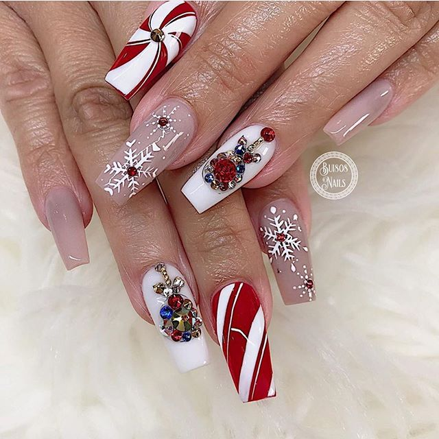 70 Pretty Festive and Winter Nail Art Designs – page 7