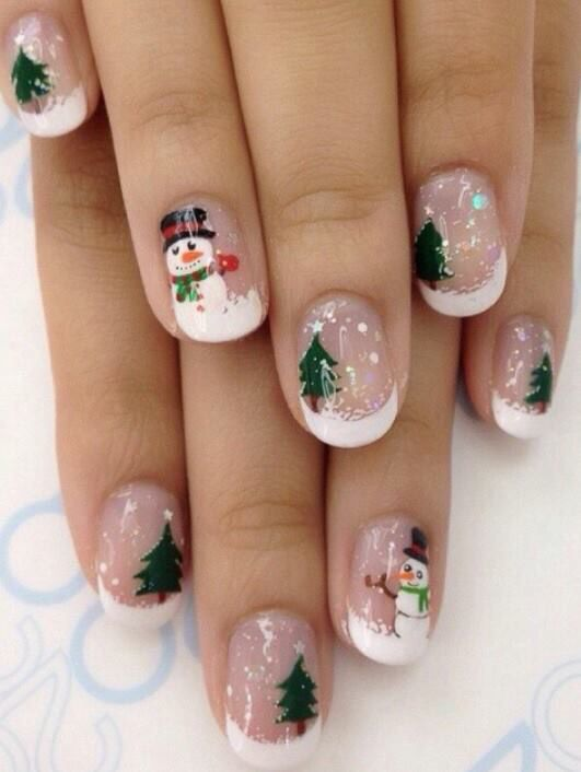 70 Pretty Festive and Winter Nail Art Designs – page 16