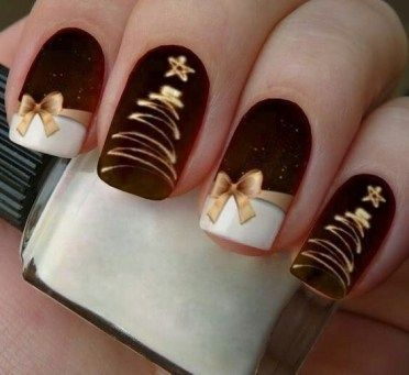 70 Pretty Festive and Winter Nail Art Designs – page 17