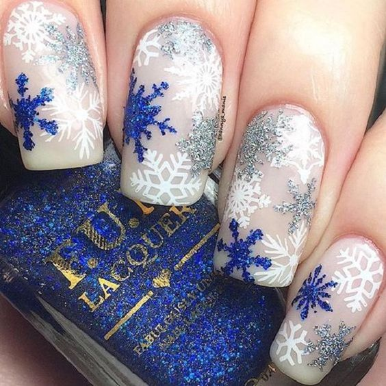 70 Pretty Festive and Winter Nail Art Designs – page 20