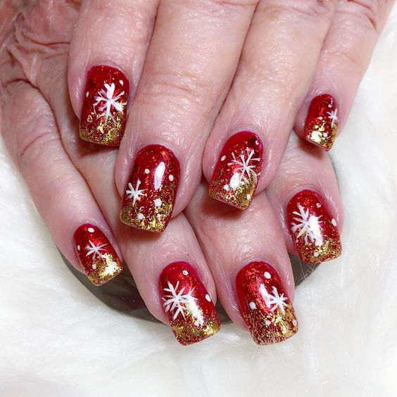 70 Pretty Festive and Winter Nail Art Designs – page 35