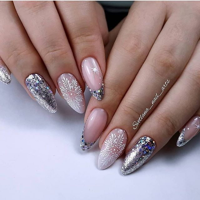 70 Pretty Festive and Winter Nail Art Designs – page 3