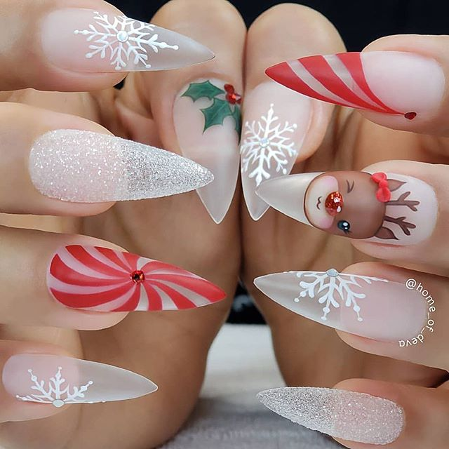 70 Pretty Festive and Winter Nail Art Designs – page 15
