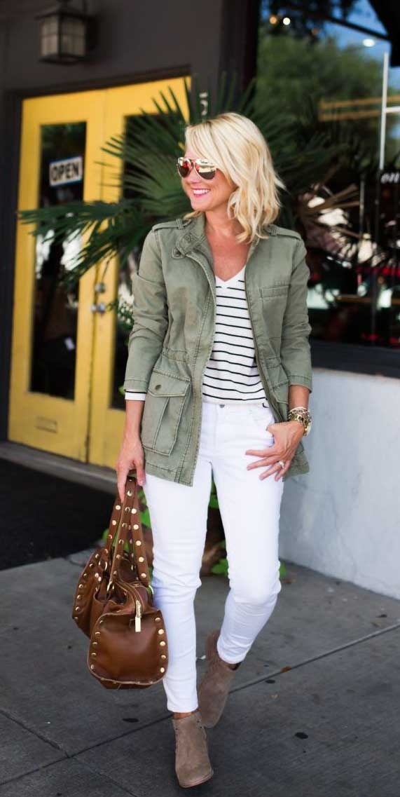 What to wear with a green jacket outfit