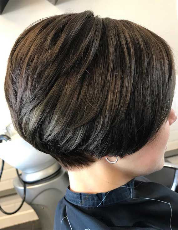 Short Bob with Inverted Back