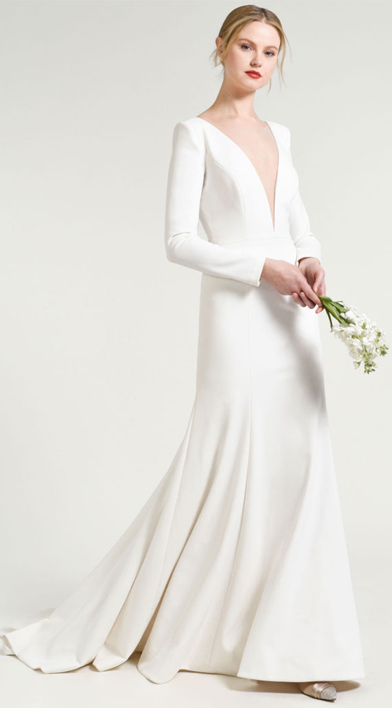 Simple and Elegant Long Sleeve Wedding Dresses