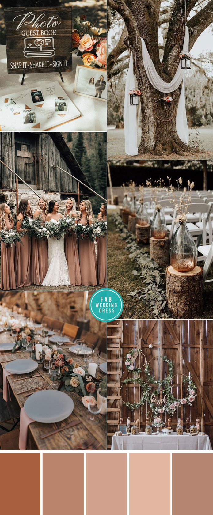 Rustic wedding in Earth tones color palette