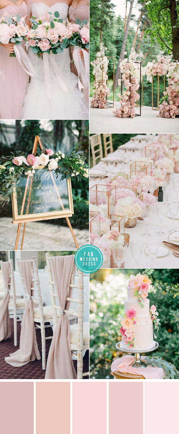 Pink Color Combos for garden Weddings