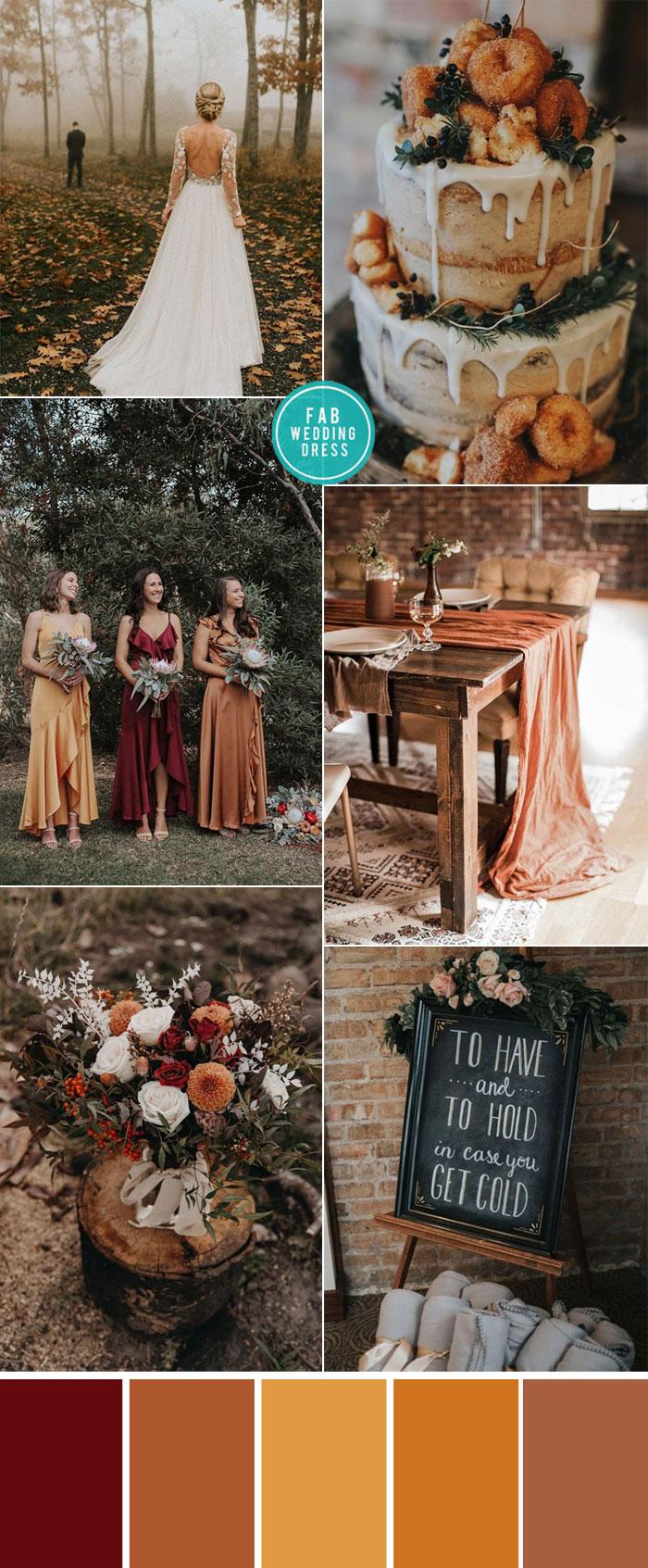 Rust Wedding Color Ideas For Cozy Fall Weddings