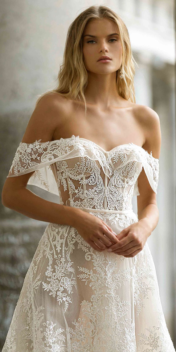 Best Off the Shoulder Wedding Dresses 118