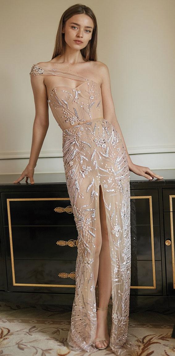 One shoulder wedding dresses for stylish brides